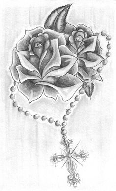 Chest Tattoos for Women Roses and Rosary Drawings .- Brustkorb Tattoos für Frauen Rosen und Rosenkranz Zeichnungen – wants – Chest tattoos for women roses and rosary drawings – wants – - Band Tattoos, Ribbon Tattoos, Flower Tattoos, Body Art Tattoos, Sleeve Tattoos, Chicano Tattoos, Rib Cage Tattoos, Tattos, Blue Rose Tattoos