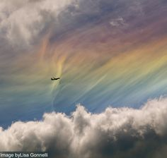 Ice halo formed by ice crystals located very high, in the cirrus clouds