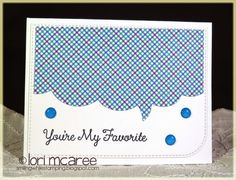 Smiling while Stamping: You're My Favorite handmade card using My Favorite Things Stitched Speech Bubble die-namics and Donuts and Sprinkles stamp set