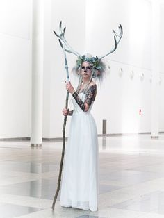 White deer cosplay