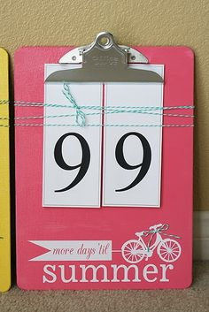 I will be needing this in my august to start counting the days again... Or make it a birthday clipboard!