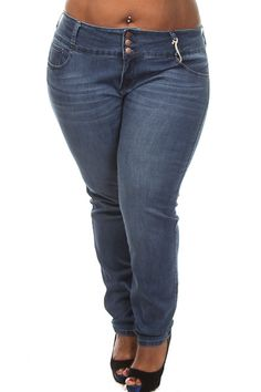 Plus Size Corset Waist Stretch Skinny Jeans | Plus Size Fashion ...
