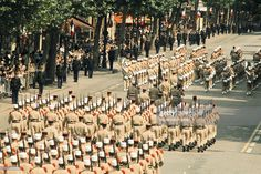 Parade Of July 14Th In Paris At France In Europe On 1974