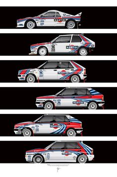 RICARDO SANTOS RALLY CAR ILLUSTRATIONS