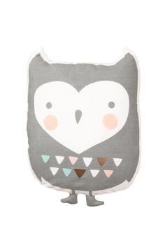 Our Ollie the Owl now comes in a soft plush cushion! Great as a toy or for nursery or cot décor! 27cm (H) outer 100% cotton sheeting