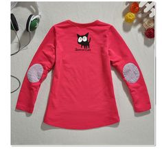 Aliexpress.com : Buy Free Shipping Designer Spring/Autumn Wear Girls Warm Tops Cute Cat Print Irregular Design Casual T shirt K0182 from Reliable Kids Spring/Autumn Wear suppliers on SICIBAY - Kids' Clothing:Selling for Donating