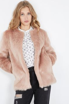 Venda Pepe Jeans / 28240 / Mulher / Casacos, sobretudos e blusões / Sobretudo Rosa envelhecido