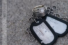 Marine wedding dog tags  Really want to do a picture like this for one of our wedding photos <3