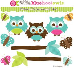 Graphics - don't want owls, but liked the tree branch w/end leaf as nav banners.  Blue Hoot Owls Clipart