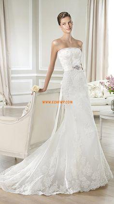 Hof-Schleppe 3/4 Arm Reißverschluss Brautkleider 2014