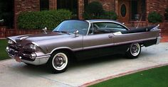 """Daddy's car. 1959 Dodge Custom Royal.  Push-button transmission, and those fins!   Many, many sweet memories of """"let's go for a ride""""."""