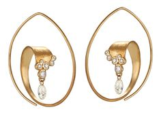 Ayesha curved diamond hoop earrings | JCK On Your Market #BrittsPick @ayeshastudio