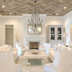 All White Living Room Decor . √ 28 All White Living Room Decor . 15 Serene All White Living Room Design Ideas Rilane Living Room With Fireplace, Home Living Room, Living Room Designs, Living Room Decor, Kitchen Living, Living Area, Living Room Ceiling Ideas, Living Spaces, Family Room Design