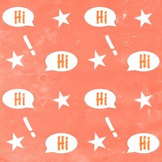 free digital orange scrapbooking  paper with speech bubbles: printable DiY wrapping paper