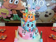 Bolo-Decorado-O Incrivel-Mundo-de-Gumball/The amazing world of gumball party