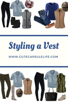 So many ways to make classy, comfy fall and winter outfits with vests