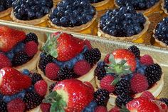 Yummy fruit tarts from The Original #GreenwichVillage #Food & Culture Tour in #NYC - http://www.zerve.com/FoodTours/GVTour