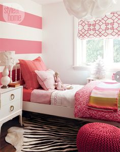 Bedroom decor: Little girl's stylish pink bedroom {PHOTO: Joe Kim/TC Media}