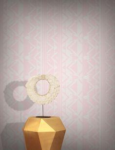 Tabriz Wallpaper by Hortense Ardalan Pink Wallpaper, Wall Wallpaper, Other Rooms, Elle Decor, Designer Wallpaper, Designs To Draw, Girl Room, Wall Murals, Wallpapers