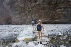 walking through the Samaria Gorge