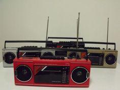 new VINTAGE 80s retro Radio cassette recorder BOOM BOX on Etsy, $25.00