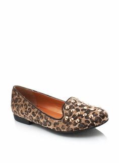 This leopard loafer is all sorts of fierce. A classic suede loafer with studs? Think if Michael Jackson was to have a shoe baby with Lady Gaga. Yes please!
