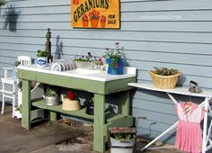 Organized Clutter: A Whimsical Outdoor Kitchen