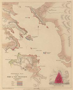 Geological Plan Port of San Francisco  1839