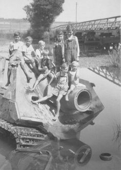 """Where are they now...? The mighty Sturmmörserwagen 606/4 mit 38 cm RW 61, or Sturmtiger (German: """"Assault Tiger"""") built on a Tiger chassis.  Never seen this picture before and dont find that many due to only 19 being built. (From Tank Lovers FB Page)"""