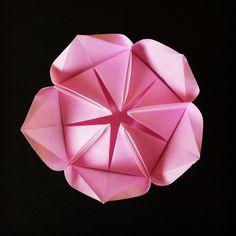 April 17th 2015 Origami Helena flower I made today. #origami #flower #helena #paper #folding #diy #craft #handmade #107