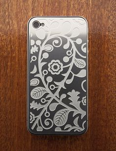 Who needs a plastic iPhone case when you can put a gorgeous decorative plate on the back?
