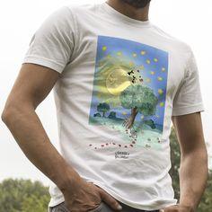 """T-shirt """"Luna degli innamorati"""" .  #ant #formica #maglietta #amore #sanvalentino #innamorati #stelle #luna"""