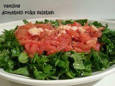 Domates ve sarımsaklı roka salatası | Vanilins