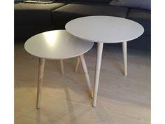 DBA sofabord, 2stk Bloomingville hvit plate med furuben kr 550,-