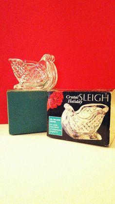 Marquis St. George Fine Lead Crystal Sleigh Holiday Elegance #MadeinUSA 1985  #StGeorgeCrystal #Vintage