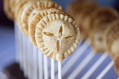 bite-sized apple pies on a stick