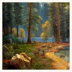 Sierra Oil Paintings | Sierra Nevada, Albert Bierstadt,famous landscape oil painting