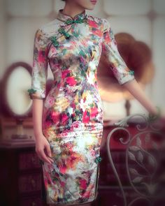 Beautiful watercolor dress
