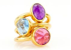 Gorgeous ring stack for summer