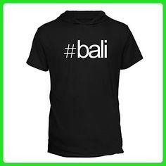 Idakoos - Hashtag Bali - Cities - Hooded T-Shirt - Cities countries flags shirts (*Amazon Partner-Link)