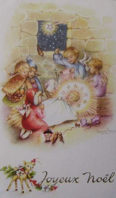 Vintage Christmas postcard ~ France