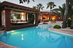 Cabana Pool Bed - Ibiza Holiday Villa Luxury Rentals in Spain and more www.bookmylifestyle.com