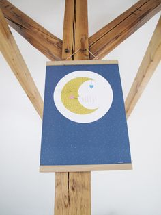 Poster Moon A3 by Ava&Yves