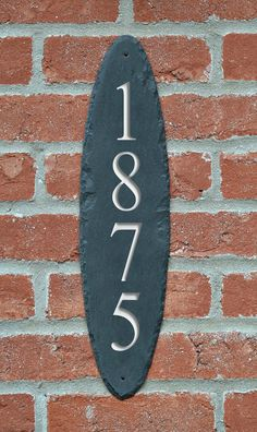CARVED Slate Vertical Address Sign / Column by TMichaelStudio