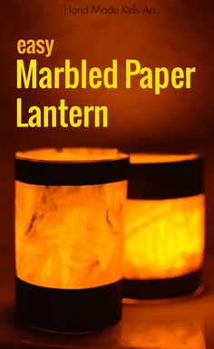 Easy Marbled Paper Glowing Lanterns