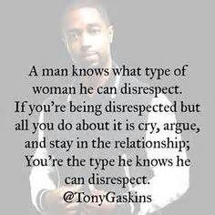 Never let someone continue to disrespect you!!