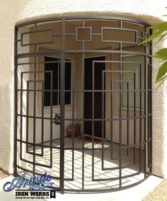 Curved Wrought Iron Entryway