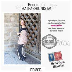 Become a MATFASHIONISTA! From Nicosia with love 🇨🇾 Ανέβασε το αγαπημένο σου mat. look στο Instagram με hashtag: #matfashion και μπορεί να δεις την φωτογραφία σου στα κοινωνικά μας δίκτυα! 📷 Eυχαριστούμε την φίλη μας Άννα, που φωτογραφήθηκε με #matfashion look στην Λευκωσία της Κύπρου! Βρείτε την #matfashion συλλογή στο κέντρο της Λευκωσίας αποκλειστικά στο mat.corner κατάστημα Λεωφ.Μακαρίου Γ' & Ήρας 22! #matfashionistas #nicosia #cyprus