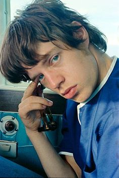 Mick Jagger on the road, 1965. Via Rolling Stone magazine