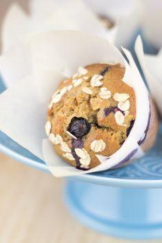 Muffins de arándanos (sin huevo ni leche)